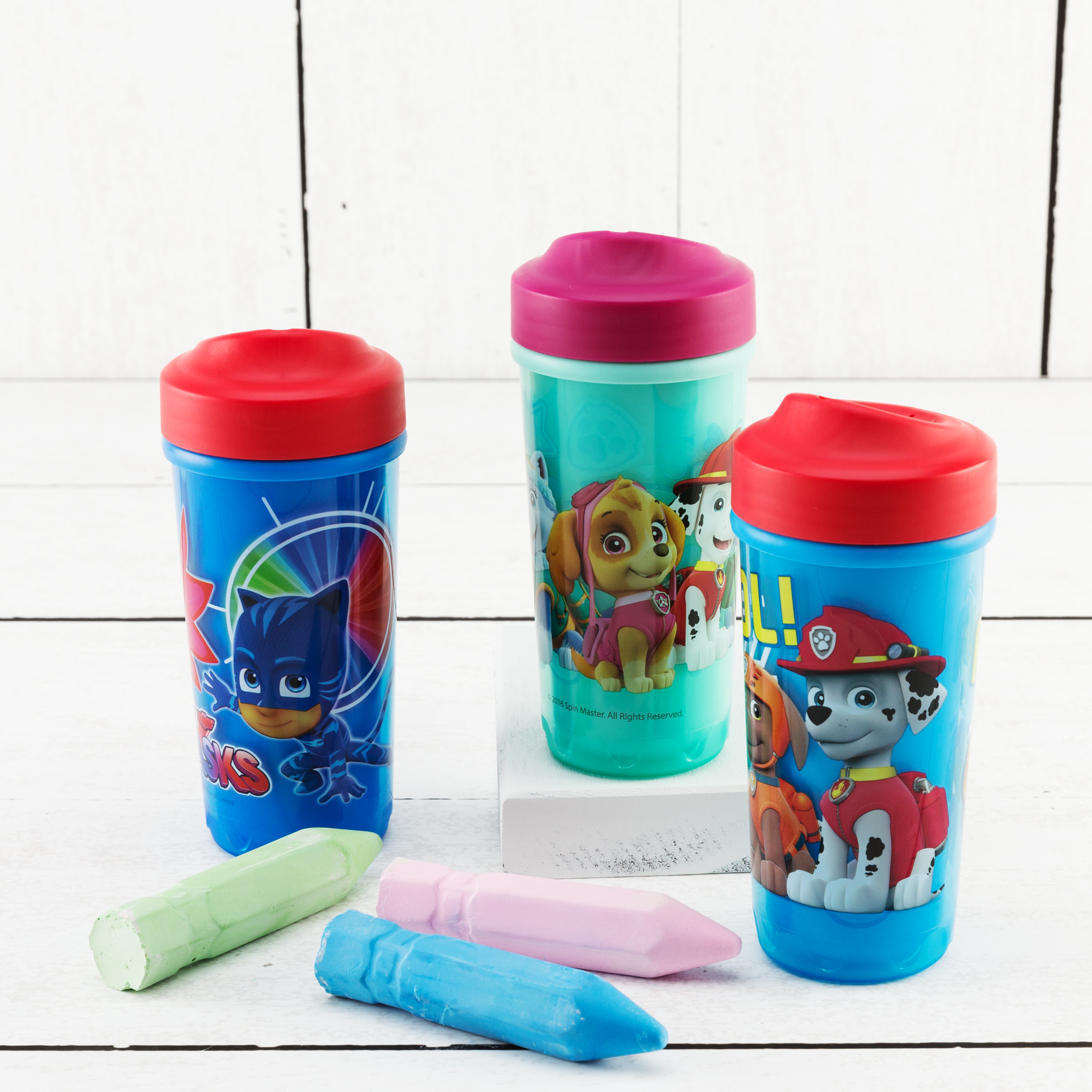 PJ Masks 8.7 ounce Sippy Cup, Catboy, Owlette & Gekko, 2-piece set slideshow image 3