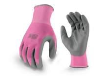BLACK+DECKER BD512 Pink Ladies Foam Nitrile Grip Glove