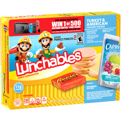 Oscar Mayer Lunchables Turkey & American with Capri Sun Convenience Meals 8.9 oz Box