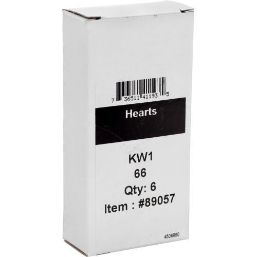 WacKey Hearts Key Blank Kwikset/66 KW1