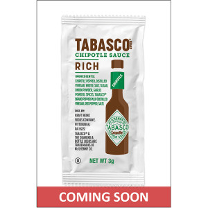 TABASCO® Single Serve Chipotle Sauce, 3 Gr. Packets (Pack Of 200) image