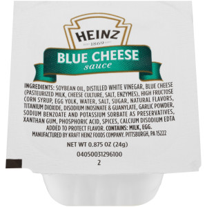 HEINZ Single Serve Blue Cheese Sauce, 0.87 oz. Cups (Pack of 100) image