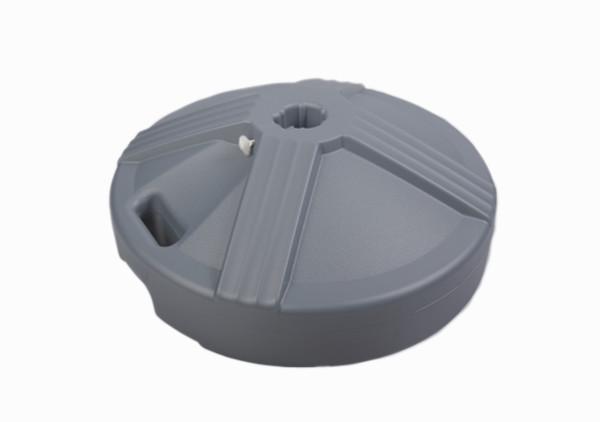 Empty Patio Table Umbrella Base - Grey 1