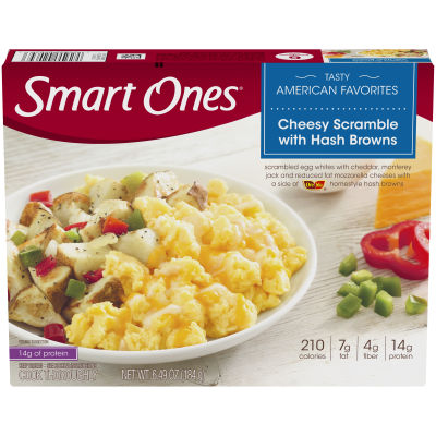 Smart Ones Tasty American Favorites Cheesy Scramble with Hash Browns 6.49 oz Box