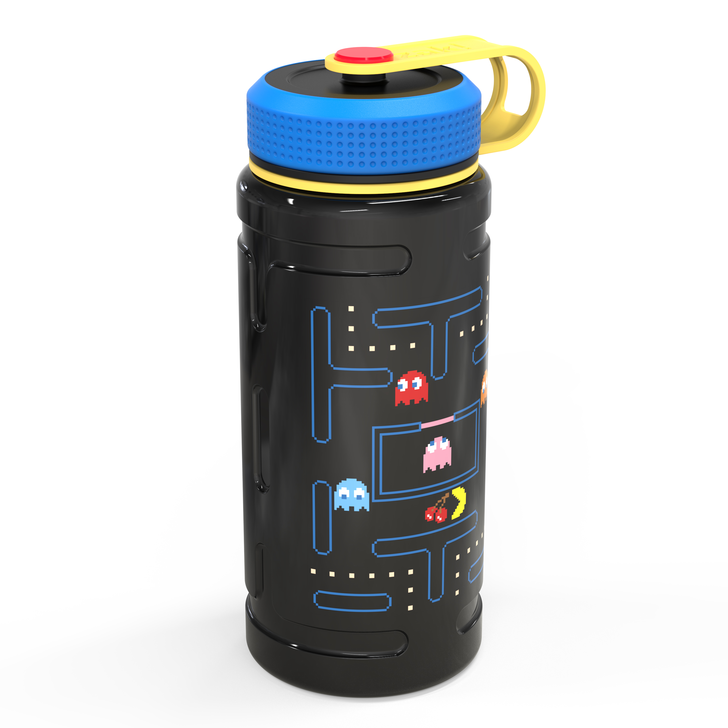 Retro Gaming 24 ounce Stainless Steel Insulated Water Bottle, Pac Man and Ghosts slideshow image 2