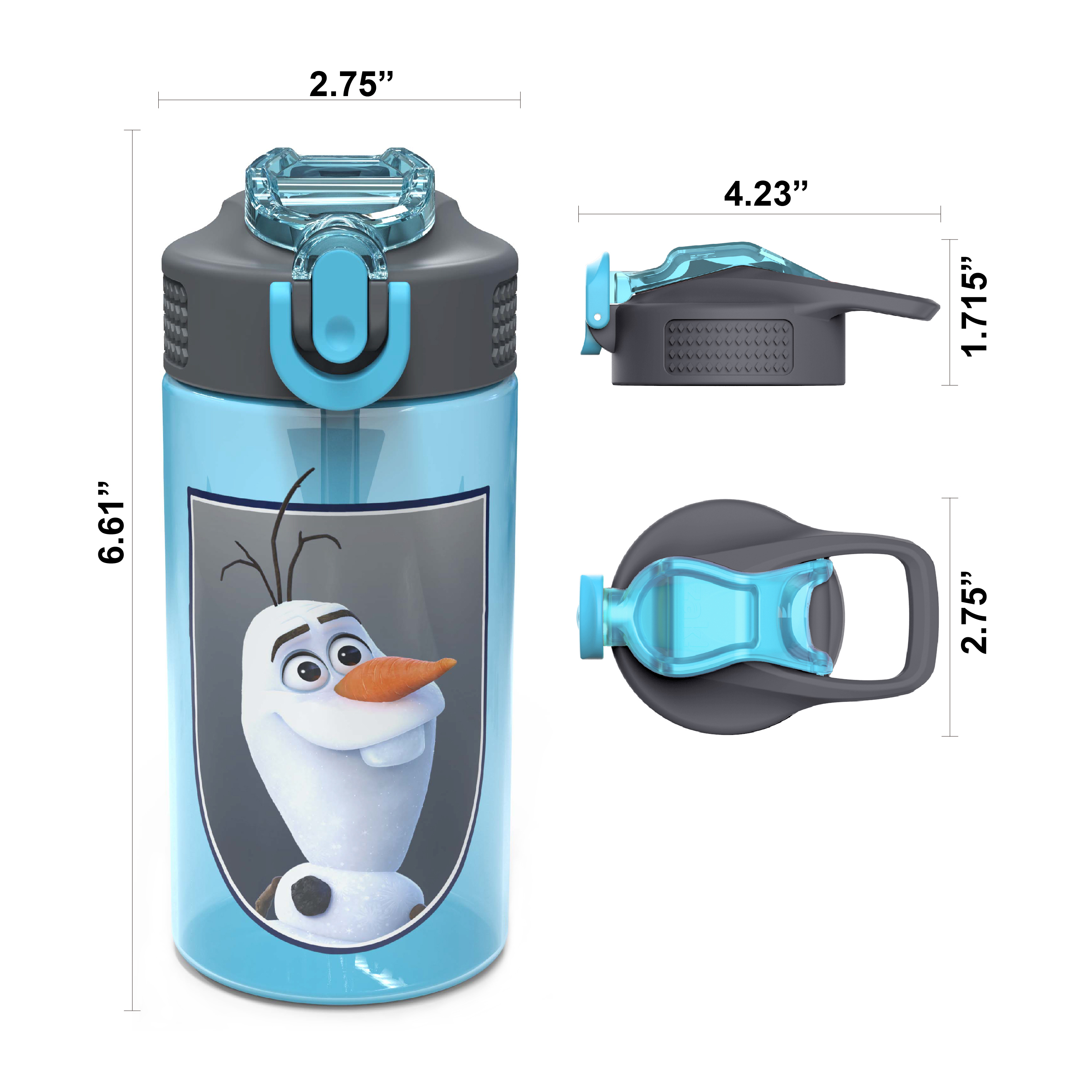 Disney Frozen 2 Movie Water Bottle, Anna , Elsa and Olaf, 2-piece set slideshow image 3