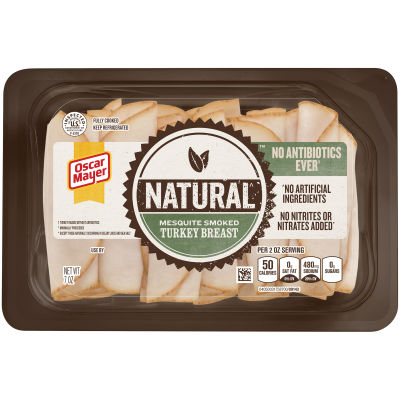 Oscar Mayer Natural No Antibiotics Ever Mesquite Smoked Turkey Breast 7 oz Tray