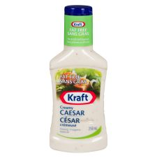 Kraft Fat Free Creamy Caesar Dressing, 250mL