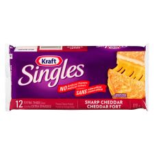 Kraft Singles Sharp Cheddar Cheese Slices