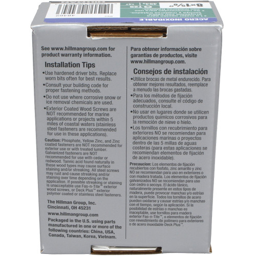 Deck Plus Stainless Steel Deck Screw - 1lb Box (#8 x 1-5/8