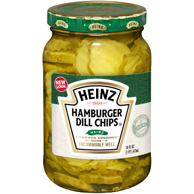 Heinz Hamburger Dill Chips Pickles 16 fl oz Jar