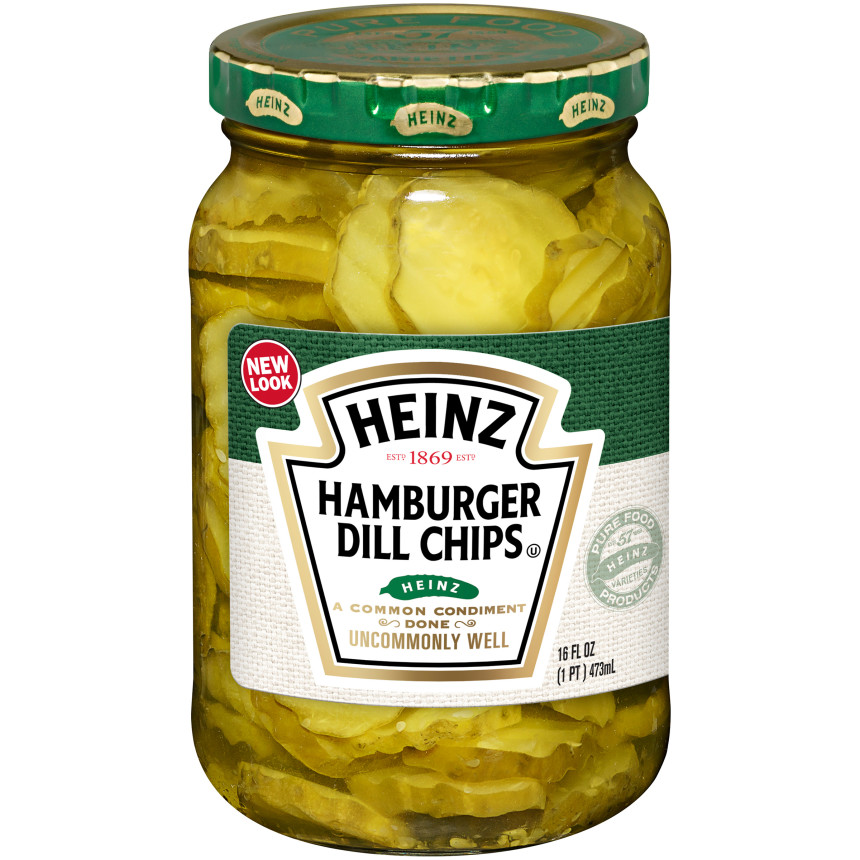 Heinz Hamburger Dill Chips Pickles, 16 fl oz Jar image