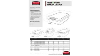 This document includes  product specifications for Freshworks™ Produce Saver product line.