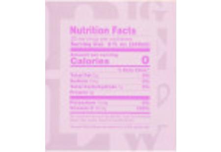 Nutritional Panel of I  Love Lemon Herbal Tea Plus Vitamin C box