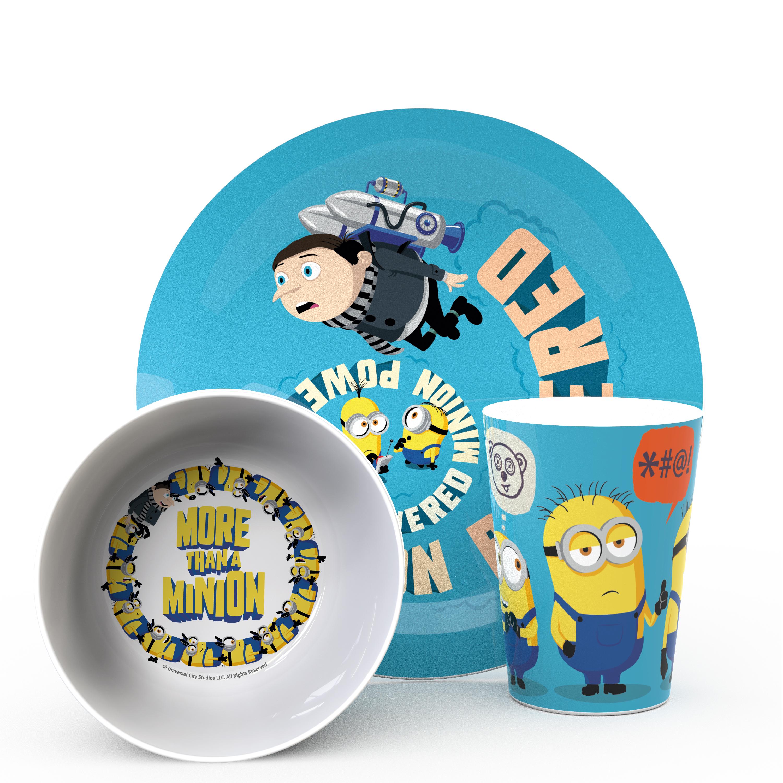Minions 2 Movie Kid's Dinnerware Set, Minions and Felonius Gru, 3-piece set slideshow image 1