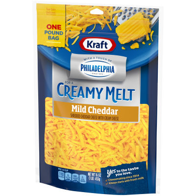 Kraft Mild Cheddar with a Touch of Philadelphia Shredded Natural Cheese16 oz Pouch