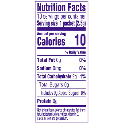Crystal Light Citrus On-The-Go Powdered Drink Mix with Caffeine, 10 - 0.09 oz Packets