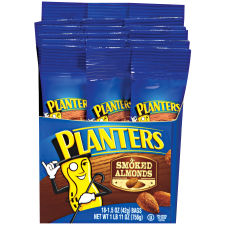 Planters Smoked & Salted Almonds, 18 - 1.5 oz Bags