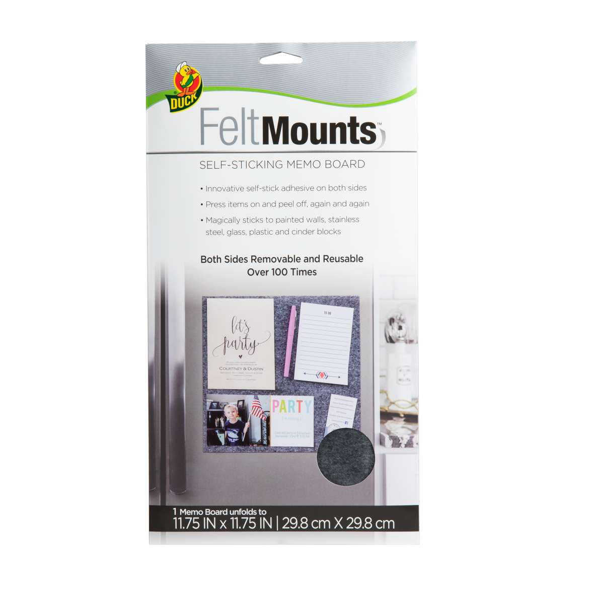Duck® FeltMounts™ Self-Sticking Memo Board Image