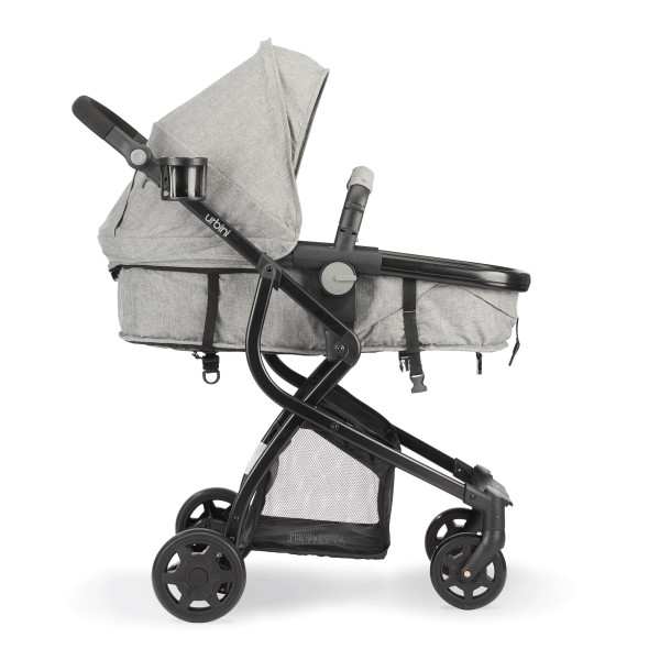 Stroller converts to carriage mode