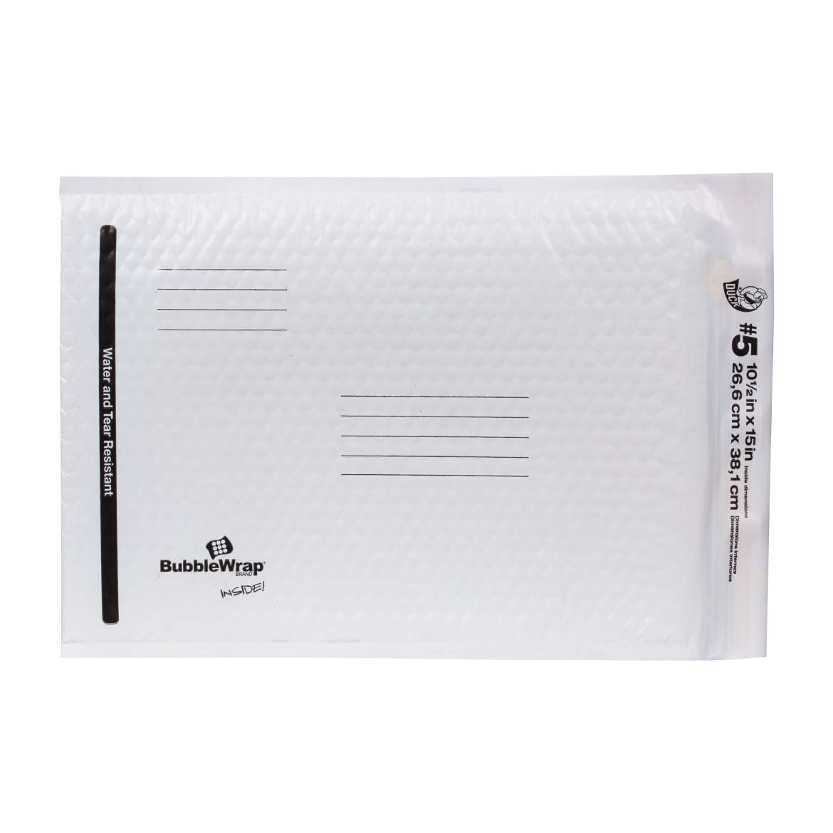 Bubble Wrap® Cushioned Poly Envelope - White, 10.5 in. x 15 in. Image