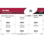 "4-Prong Tee Nuts Assortment (#10-24 thru 3/8""-16)"