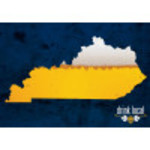 """Aluminum Drink Local KY Beer Sign 10"""" x 14"""""""