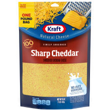Kraft Sharp Cheddar Finely Shredded Cheese 16 oz Pouch