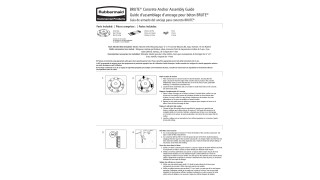 This instruction sheet provides guidelines to assemble the BRUTE® Concrete Anchor Kit.
