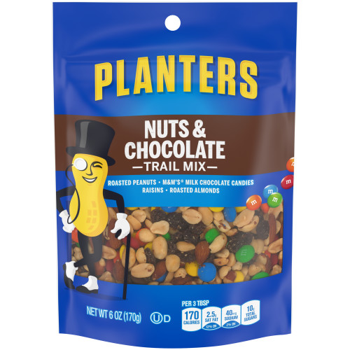 Planters Trail Mix Snack Nuts - Nuts & Chocolate, 6 oz.