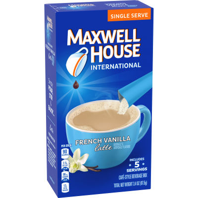 Maxwell House International Latte French Vanilla Coffee, 5 ct Box