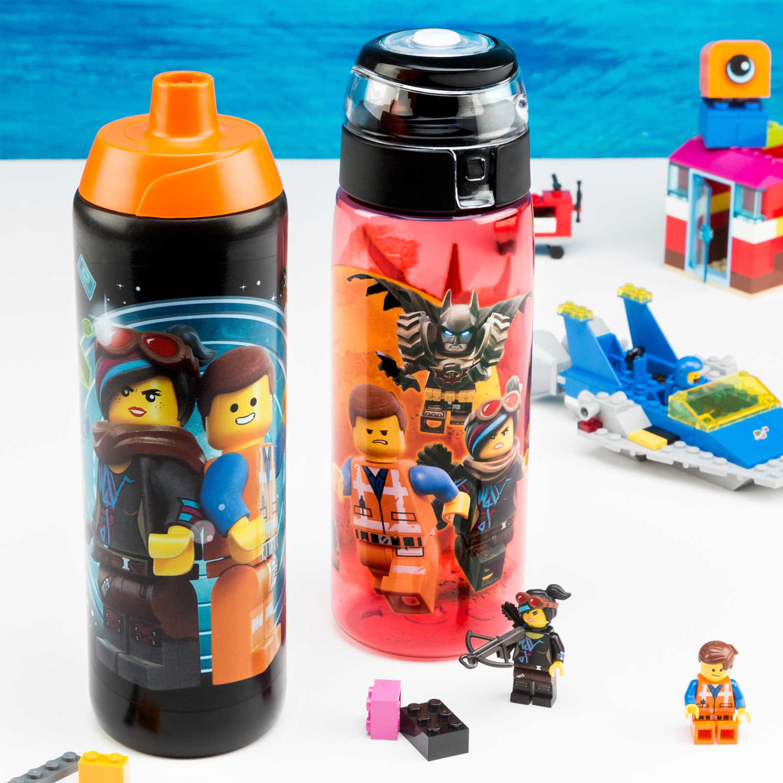 LEGO Movie 2 25 ounce Water Bottle, Batman, Wyldstyle & Emmet, 2-piece set slideshow image 2