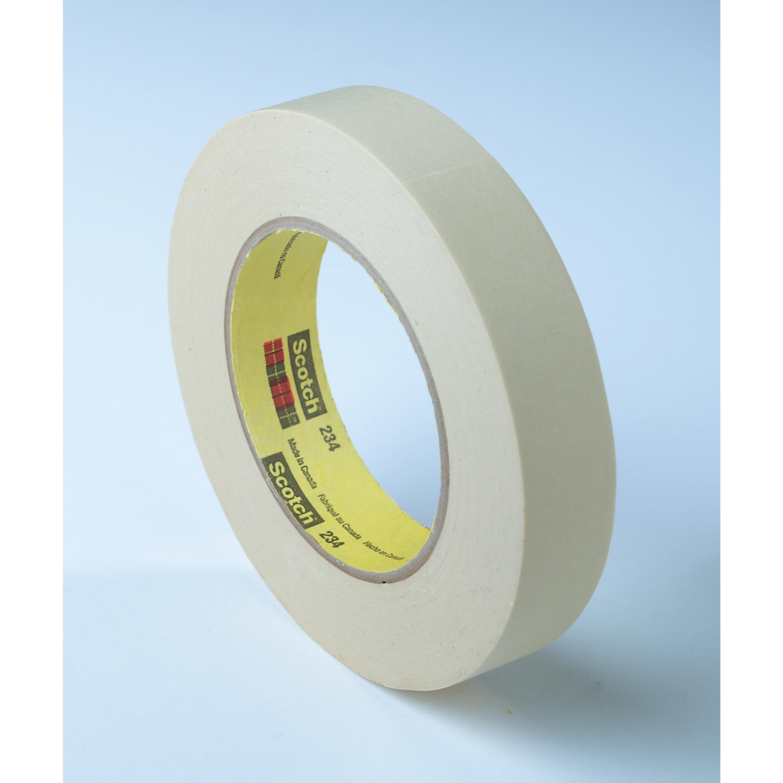 3M™ General Purpose Masking Tape 234, Tan, 60 mm x 55 m, 5.9 mil, 12 per case