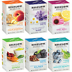 Mixed Case of 6 Bigelow Benefits Teas - Case of 6 boxes- total of 108 teabags
