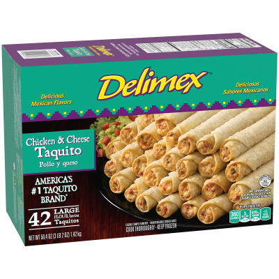 Delimex Chicken & Cheese Taquitos 42 count Box