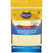 Polly-O Low Moisture Part Skim Shredded Mozzarella 8 oz Bag