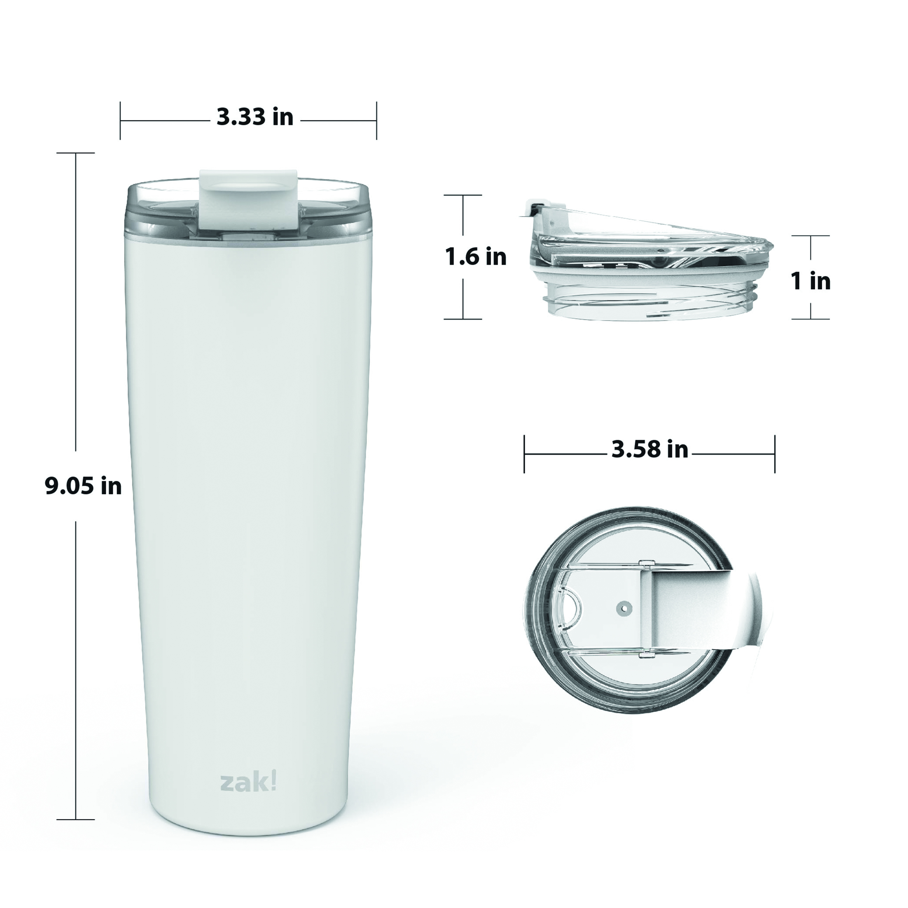 Aberdeen 24 ounce Vacuum Insulated Stainless Steel Tumbler, Green slideshow image 6