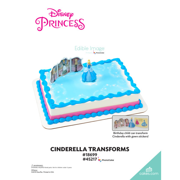 Disney Princess Cinderella Transforms DecoSet® The Magic of Cakes® Page