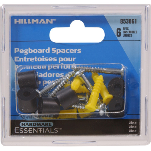 Hardware Essentials Zinc Plated Peg Hook Kits & Accessories