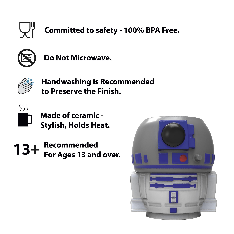 Star Wars 13 ounce Coffee Mug and Spoon, R2D2 slideshow image 8