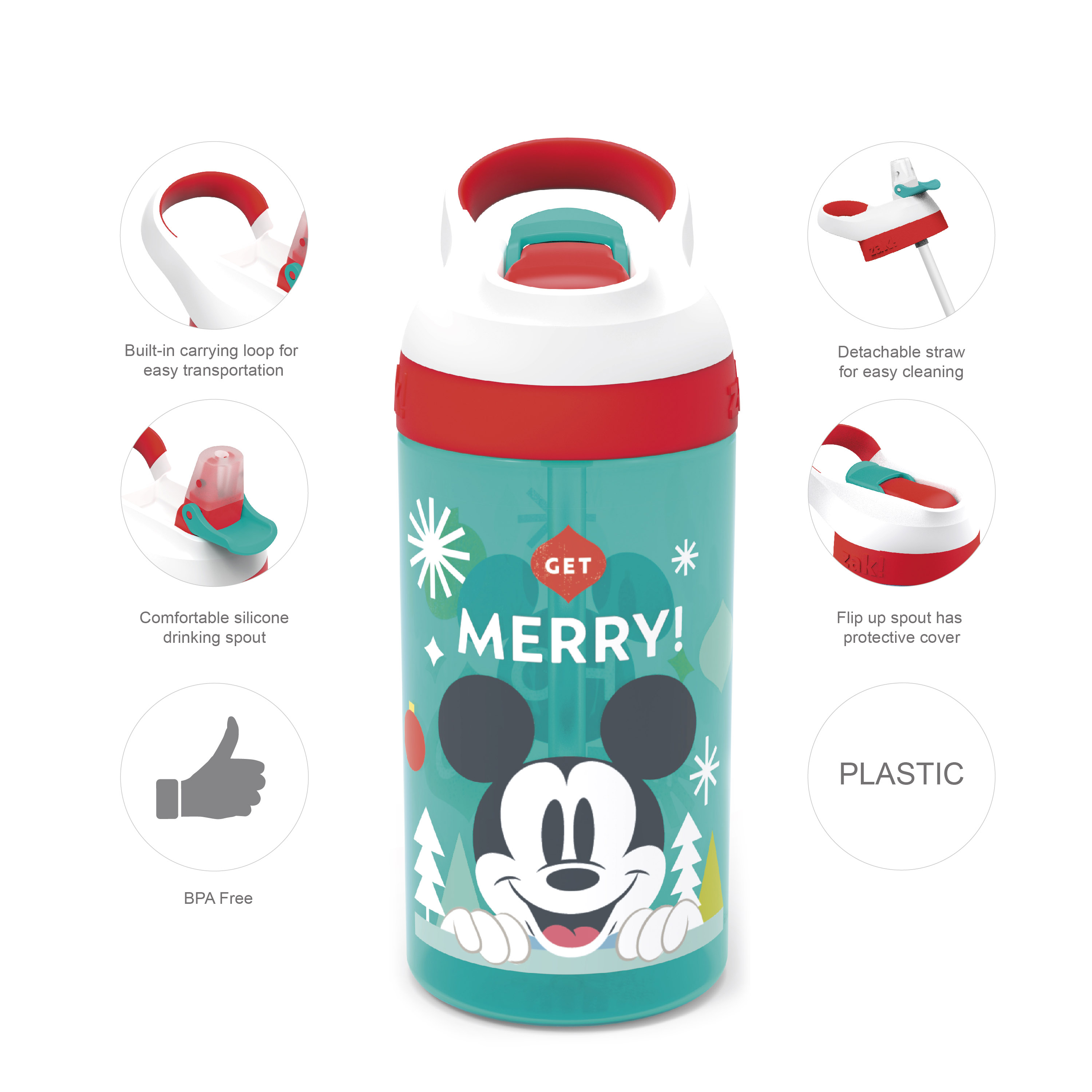 Disney 16 ounce Water Bottle, Mickey Mouse slideshow image 7