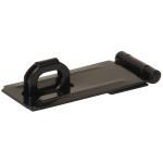 Hardware Essentials Fixed Staple Safety Hasps Black