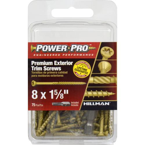 Power Pro Premium Exterior Trim Screws #8 x 1-5/8