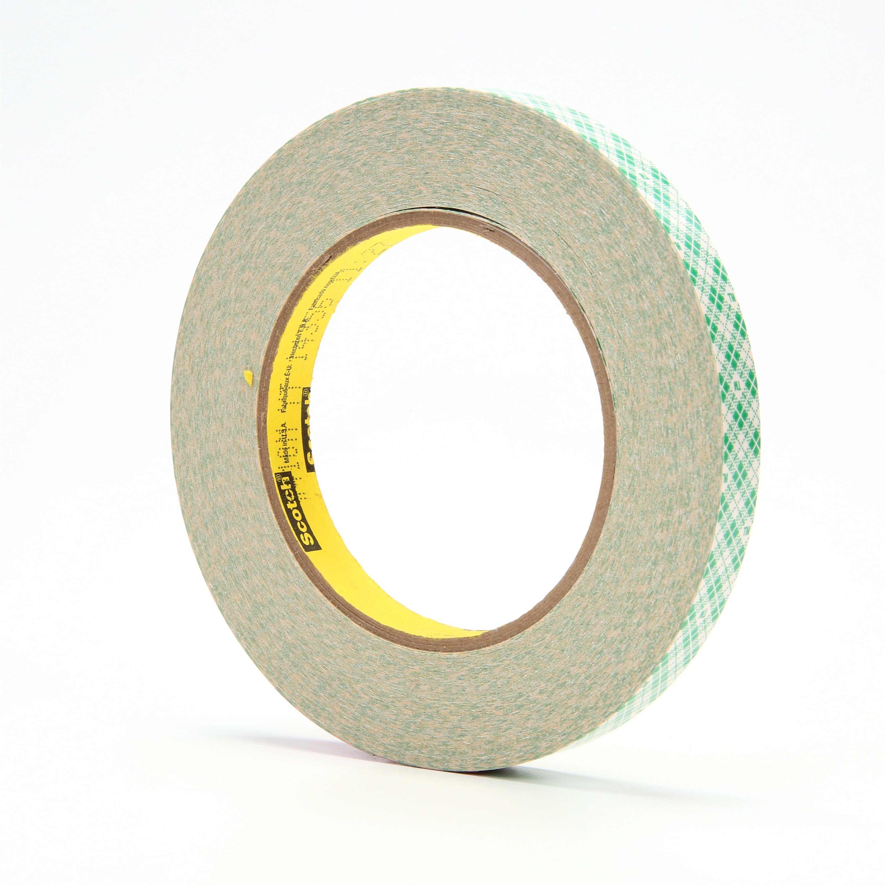 3M™ Double Coated Paper Tape 410M, Natural, 1/2 in x 36 yd, 5 mil, 72 rolls per case