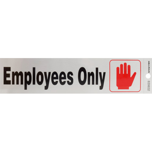 Adhesive Employees Only Sign 2