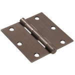Hardware Essentials Square Corner Pewter Door Hinges