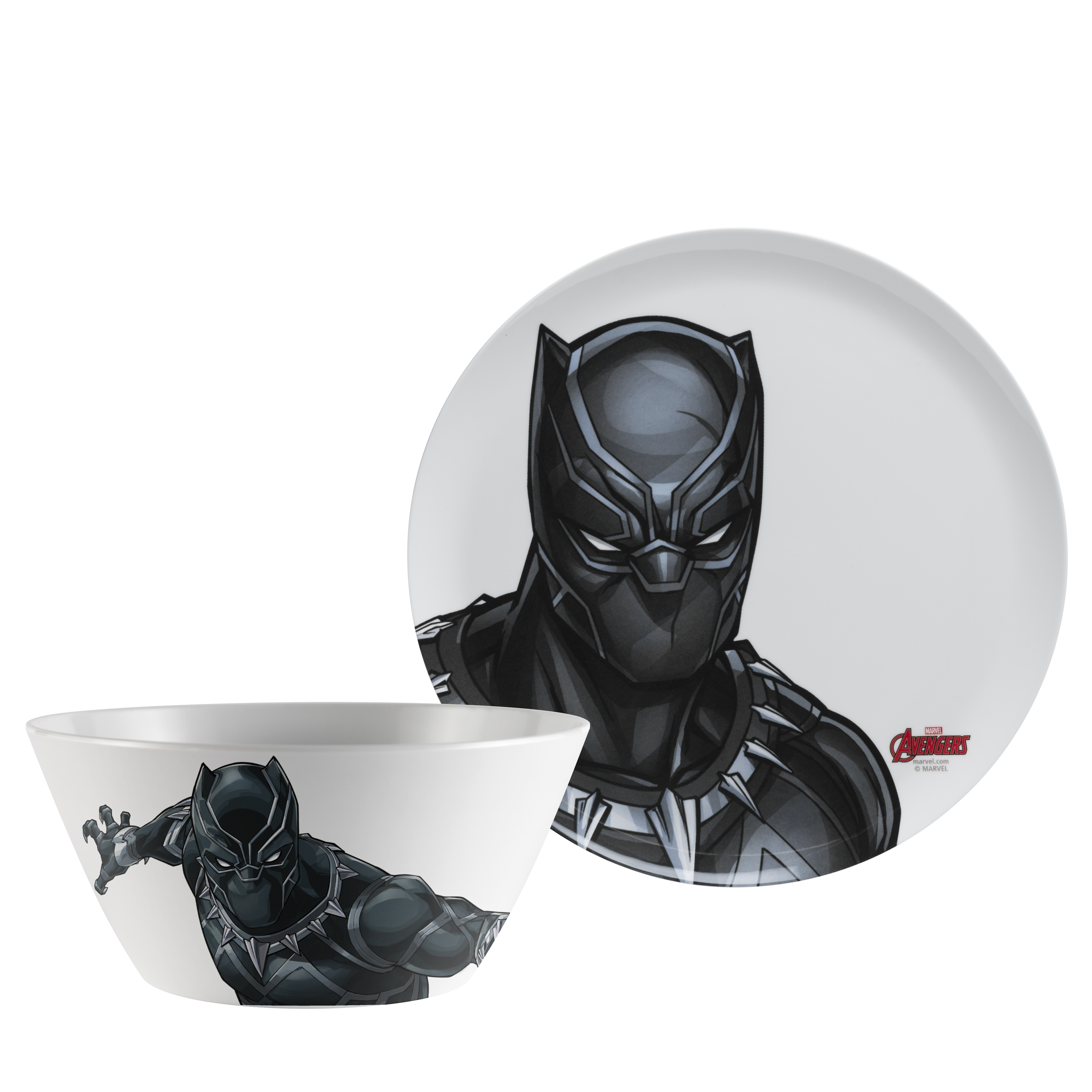 Marvel Comics Dinnerware Set, Black Panther & The Avengers, 2-piece set slideshow image 1