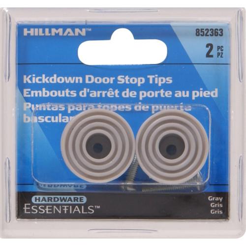 Hardware Essentials Grey Kick Down Door Stops 4in & 5in