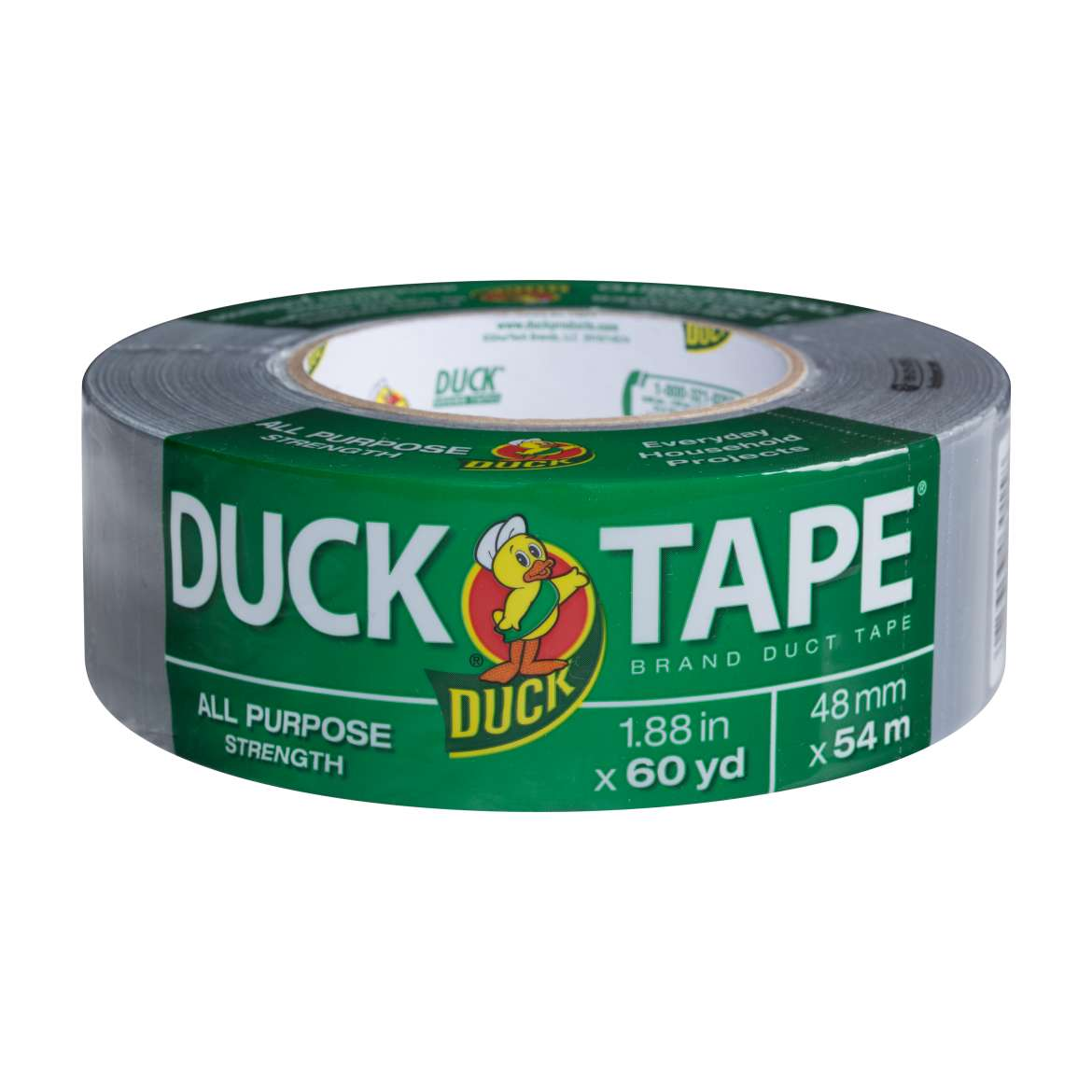 All Purpose Duck Tape® Brand Duct Tape - Silver, 1.88 in. x 60 yd. Image