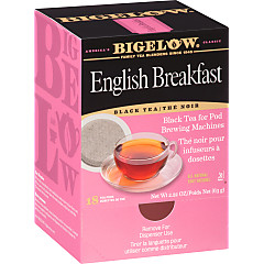 English Breakfast Tea Pods - Case of 6 boxes- total of 108 teabags